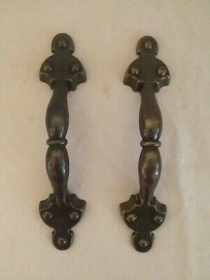 Vintage Cast Metal Drawer Pulls-1973--Set Of 2