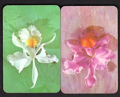 Vintage Swap/Playing Cards - Pretty Orchids Pair