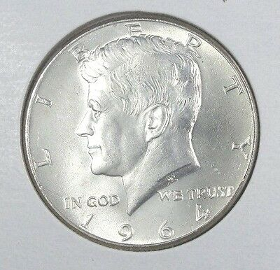 1964 90% Silver Kennedy Half Dollar From Mint Roll Uncirculated Ungraded