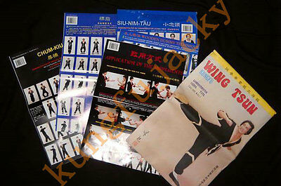 Wing Chun Kung Fu Exercise Wall Maps Wing Tsun Wooden Dummy Forms Posters set