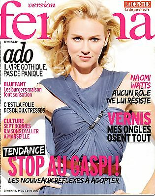 French mag 2013: NAOMI WATTS