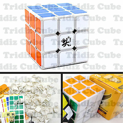 3x3x3 White Dayan Zhanchi V5 42mm Mini Speed Cube puzzle smooth New -US SELLER-