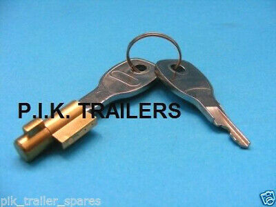 Security Anti-Theft Lock for Pressed Steel Coupling Hitch on Unbraked Trailer