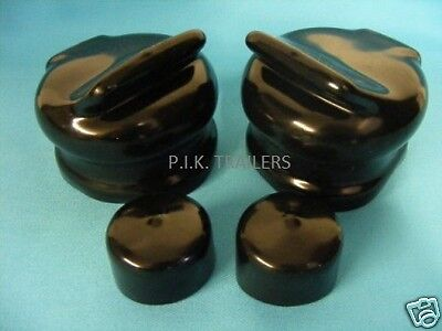 2 x Socket & Plug Covers for 7 Pin Towing 12N & 12S on Caravans
