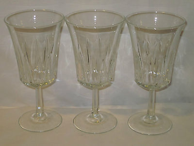 3 Water Goblets~Regency~Cris D'Arques/Durand~Crystal~10 Ounce~Clear~France