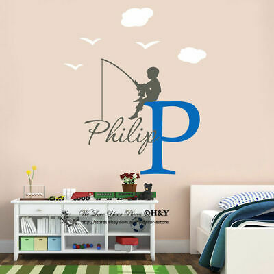 Custom Personalised Boys Name Decal Wall Stickers Nursery Decor Removable Gift