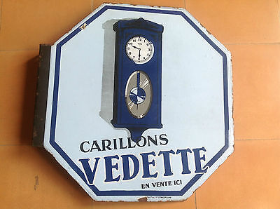 Vintage Placa Anuncio Esmaltada CARILLONS VEDETTE - Vintage Plaque Advertisement