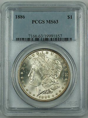 PCGS MS-63 Morgan Silver Dollar BU Coin