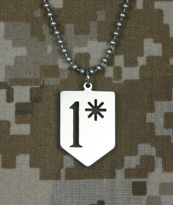 Military 1* (one asterisk) GI Jewelry Stainless Steel Necklace
