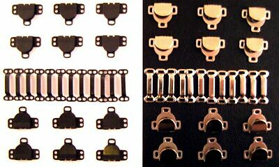 Skirt Hooks and Eyes ~ Black & Silver Fasteners