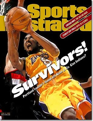 June 12, 2000 Kobe Bryant Los Angeles Lakers Sports Illustrated NO LABEL 1