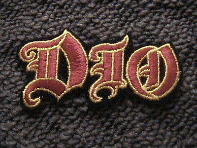 Ronnie James Dio Band Logo Sew On Patch Original From The Early 1980's Tour