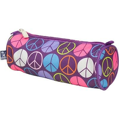 Wildkin Purple Peace Signs Horses School Pencil Case Make up bag pouch girls