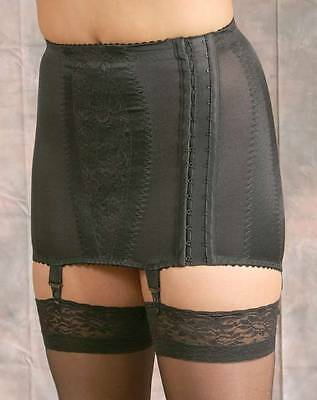 Retro Vintage Style Open Bottom Hookside Girdle 4 Detachable Garters/Suspenders