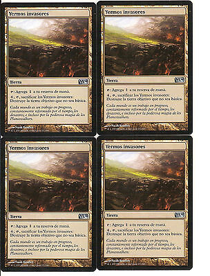 mtg Magic 4x Encroaching Wastes ( Yermos invasores ) Spanish M2014 NM