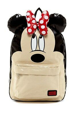 NWT Loungefly Disney Minnie Mouse Large Face Backpack - Ivory/Black