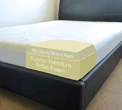 Memory Foam Mattress Double King Single Super Small Size 3ft 4ft 6 6ft 5ft 4ft6