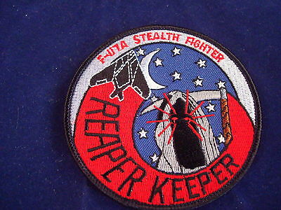 F-117A STEALTH FIGHTER REAPER KEEPER MILITARY PATCH NEW