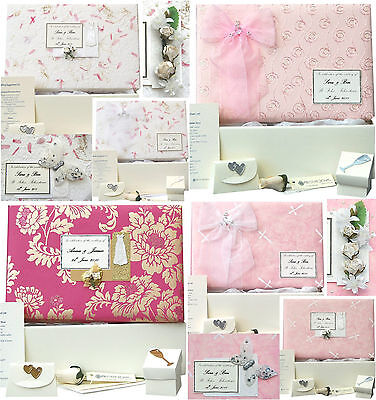 Wedding Keepsake Memory Box - 12 Pink Designs PERSONALISED 4 Motifs +/- Extras