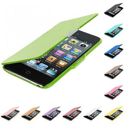 For iPod Touch 4th Gen 4G 4 Color Wallet Leather Hard Case Cover Pouch Accessory