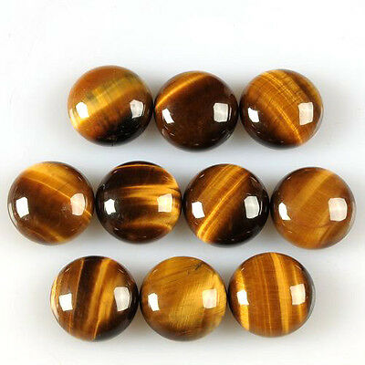 Lot Of 25 Pc AAA Quality Golden Tiger Eye 6x6 mm Round Cabochon Loose Gemstone