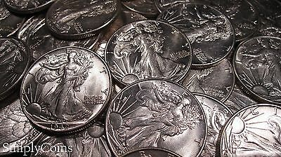 Mixed Date AU About Uncirculated Walking Liberty Silver Half Dollar Coin Lot