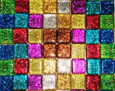 Glass Mosaic Tiles Buy 3 Packs for £12 inc postage Various Colours Shapes Sizes
