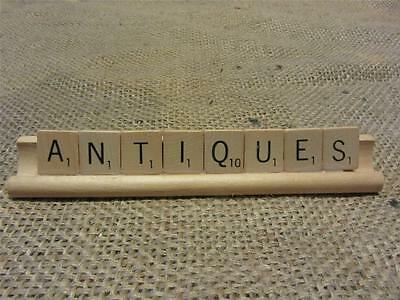 Scrabble Game Pieces ANTIQUES For Decor Antique Vintage Display Old 8333
