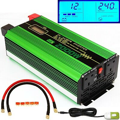 2000W/4000W(Peak) DC12V PURE SINE WAVE POWER INVERTER LCD DISPLAY +REMOTE SWITCH