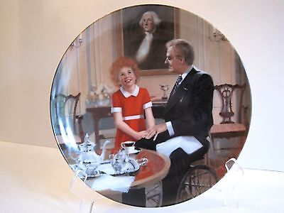 """Annie Collector's Plate Series:  """"Tomorrow""""  Fifth Issue"""