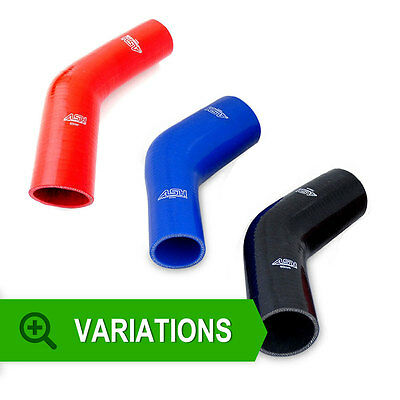 Silicone 45 Degree Elbow Reducers - Hose Pipe Reduction Bends Water Air