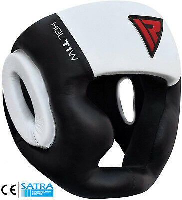 RDX Head Guard Helmet Kick Boxing MMA Martial Art Gear Muay Thai Training T1W