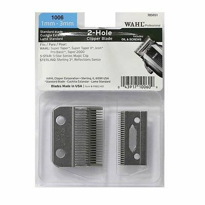 WAHL 1006 Professional Standard Two Hole Clipper Blade Brand New Sealed! 2016!