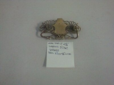 "Reduced  50%Vintage Antique Brass Drawer Pull. Screw Holes are 3"" C. to C. #9"