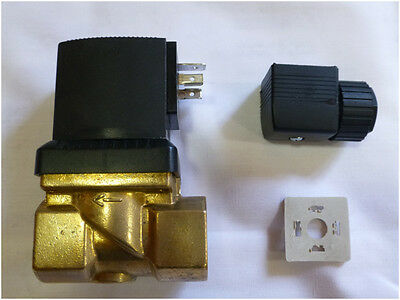 """3/4"""" BSP 230 V Solenoid Valve Normally closed Power To Open"""