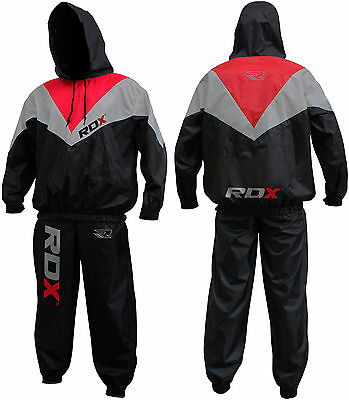 RDX Fight ME Sauna Sweat Track Suit Weight loss Slimming Fitness Boxing Gym CA