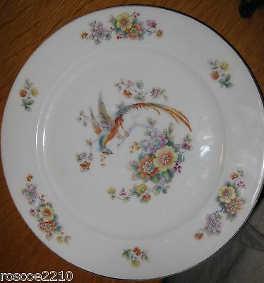 Hand Decorated Bird Plate from Crowley, Milner & Co of Detroit- Bird with Floral