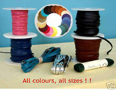 Kangaroo Leather Lace 50 metre spools in 2.5mm or 3mm