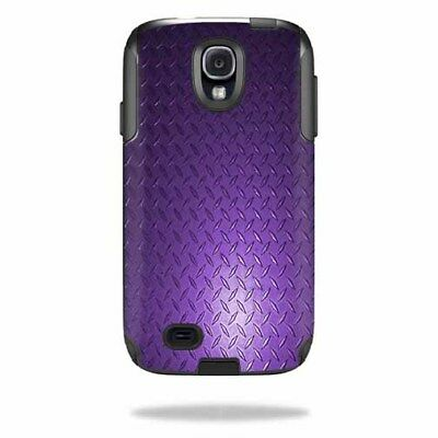 Skin Decal Wrap for OtterBox Commuter Samsung Galaxy S4 Case Purp Diamond Plt