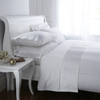 Supreme Luxury 100% Combed Egyptian Cotton 300 Thread Count Fitted Sheet White