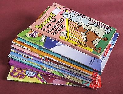 Lot of 10 Scooby-Doo Paperback Books Doughy Creature Rowdy Rodeo Glowing Alien