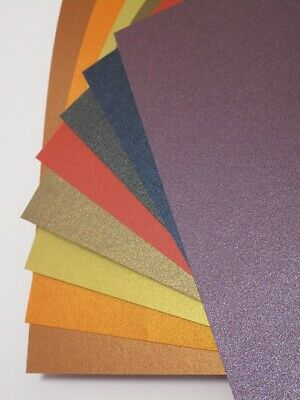 15 x A4 Double Sided Pearlescent Shimmer Paper 125gsm - 8 Colours to choose from