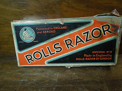Vintage Rolls Razor Hollow Ground Imperial No. 2 With Box