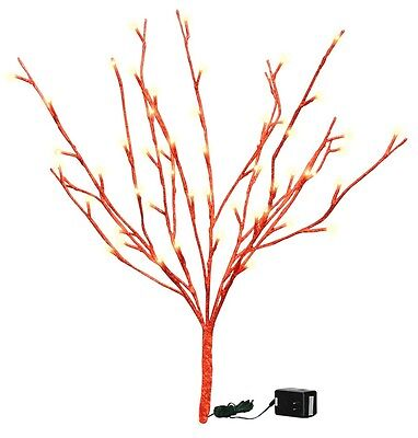 """19.75"""" Lighted Red Glitter Twig, 60 Lights, Electric"""