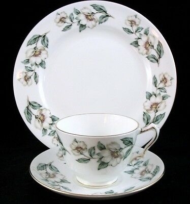 Crown Staffordshire PEAR BLOSSOM Trio Bone China F16218 VERY GOOD CONDITION