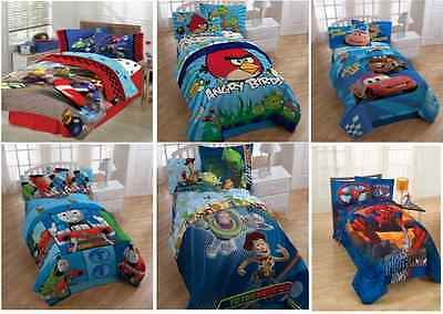 Kids Boys Bedding Comforters With Multiple Disney Characters / Tv Characters