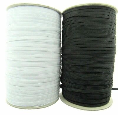 Black or White 12 Cord Elastic - ( 9mm approx ) - Very Best Quality Elastic