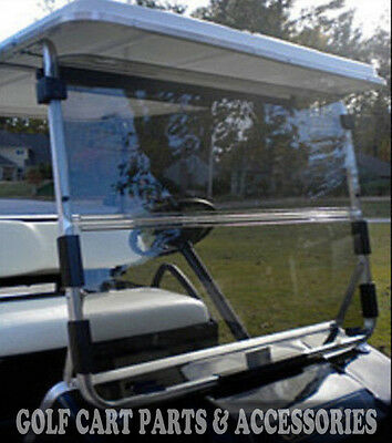 Club Car DS Clear Windshield '82-'00.5 *New In Box* Golf Cart Folding Acrylic