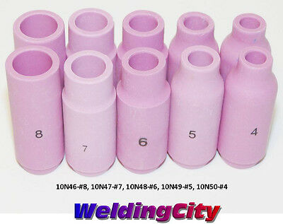 10 TIG Welding Ceramic Cups 10N46-10N50 #4-#8 Torch 17/18/26 US Seller Fast Ship