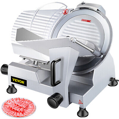 """Commercial Electric Meat Slicer 10"""" Blade 240w Deli Food cutter"""